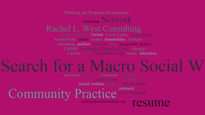 Macro Social Work Word Cloud