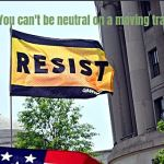 Resist flag meme