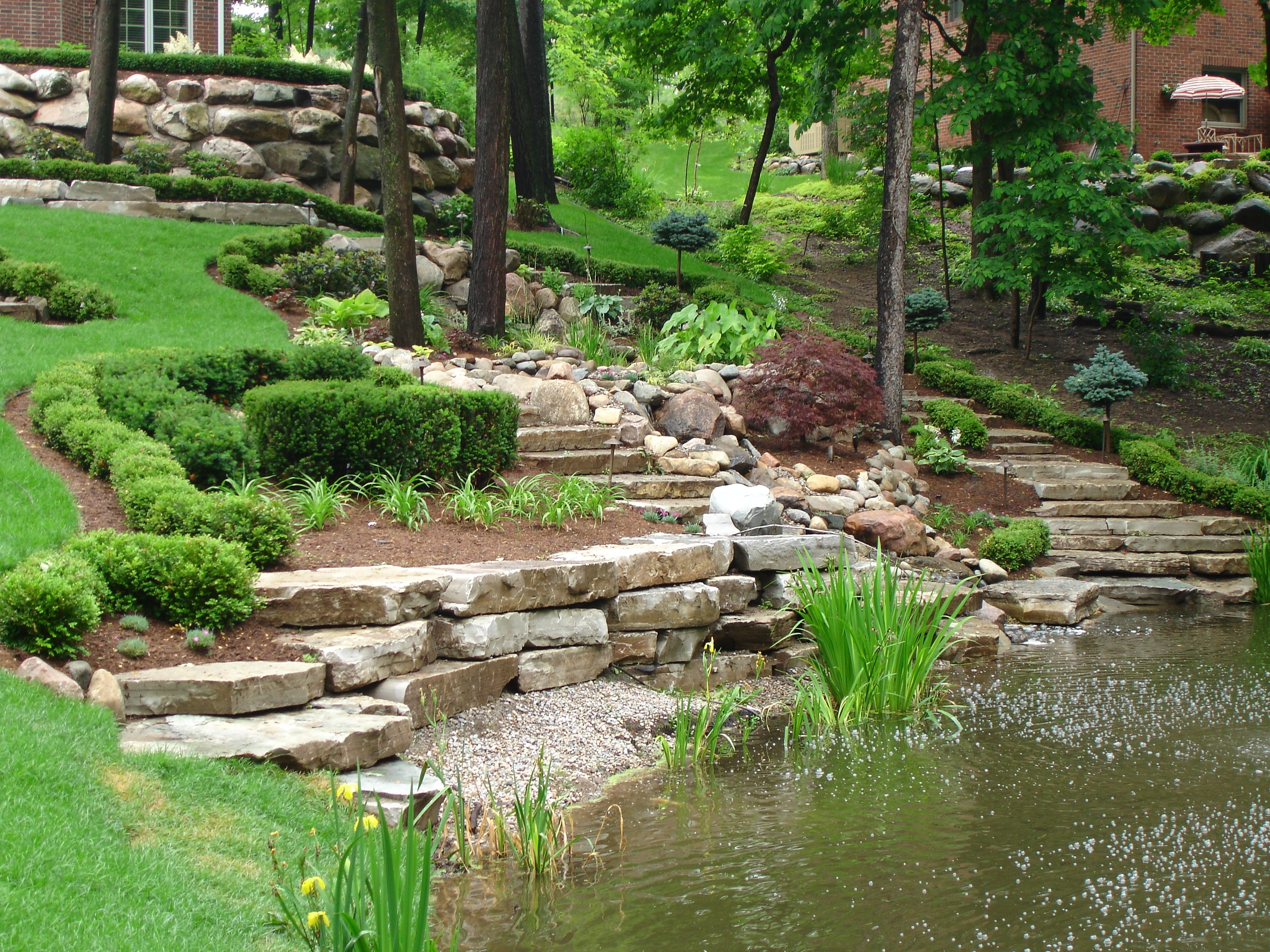Attractive Landscaping Ideas For Slopes — Extravagant ... on Backyard With Slope Ideas  id=50490
