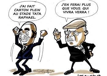 CARICATURE – MP vs Rassemblement: «Je pisse plus haut que toi»!