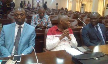 De gauche à droite, le ministre Shadary, l'opposant Vital Kamerhe et le ministre Jean-Lucien Busa