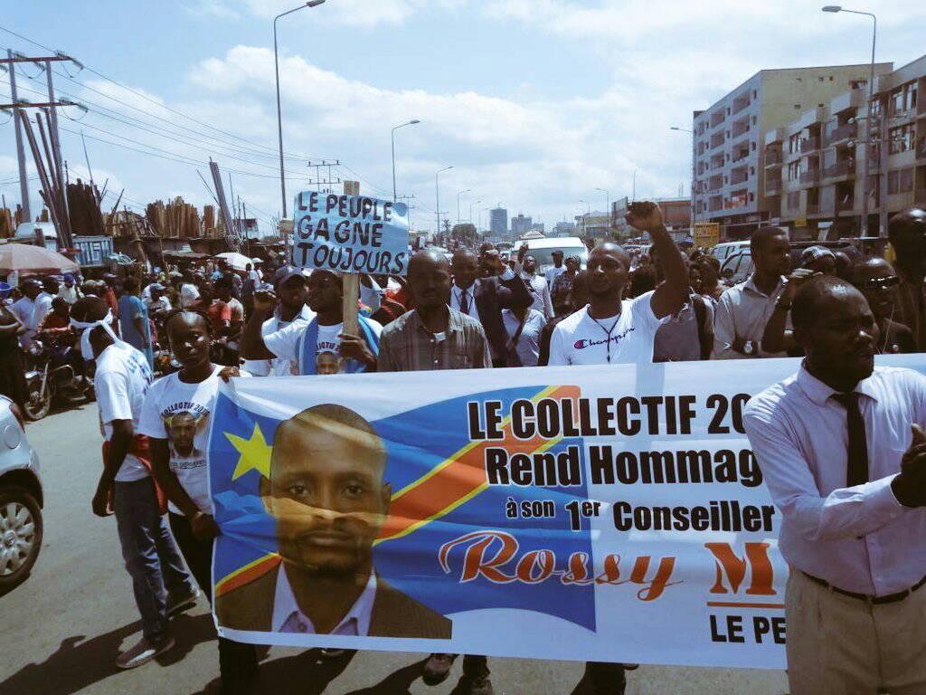 "Kinshasa pleure son ""héros"", Rossy Mukendi"