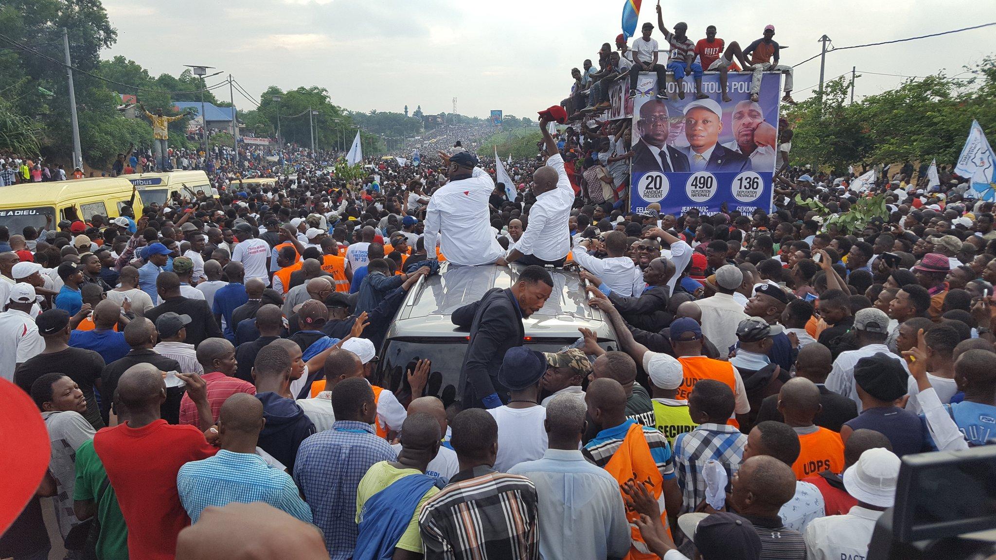 Elections en RDC : premier meeting sous la pluie et faux départ