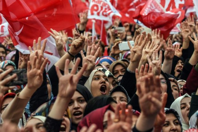 A rally in Istanbul in support of the Turkish President | Ozan Kose/AFP via Getty Images