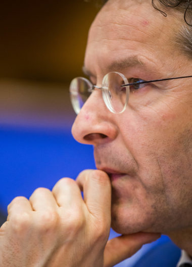 Dijsselbloem, during a hearing by European Parliament Committee on Economic and Monetary Affairs | Stephanie Lecocq/EPA
