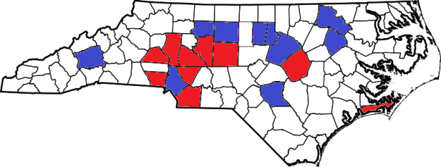 Where the Parties Get Their Votes in NC