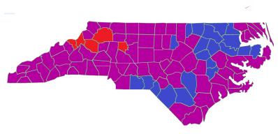 Purple State Map.New Voters And A Purple State Politicsnc