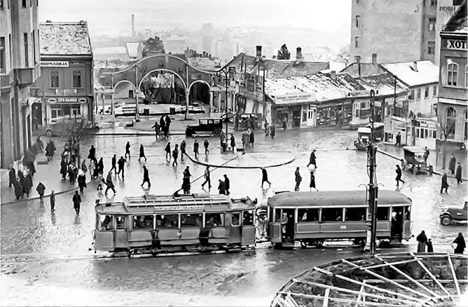 Престолонаследников трг на месту где су данашње Теразије (Фото Музеј града)