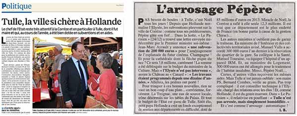 La Corrèze dans Le Parisien et Le Canard enchaîné