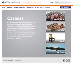 EffectiveBrands Careers Landing page