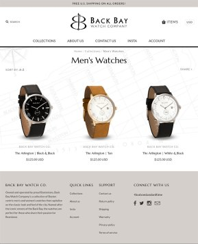 Watch collection page