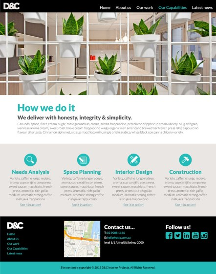 D&C Interiors: Our capabilities