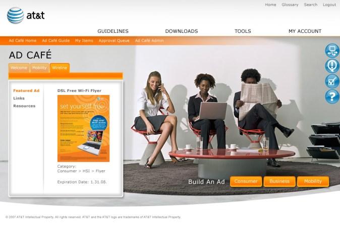 Ad Café landing page