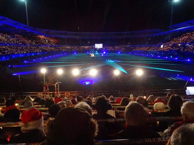 Weihnachtssingen im Stadion 2019