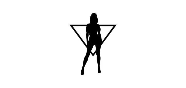figura typu odwrocony trojkat