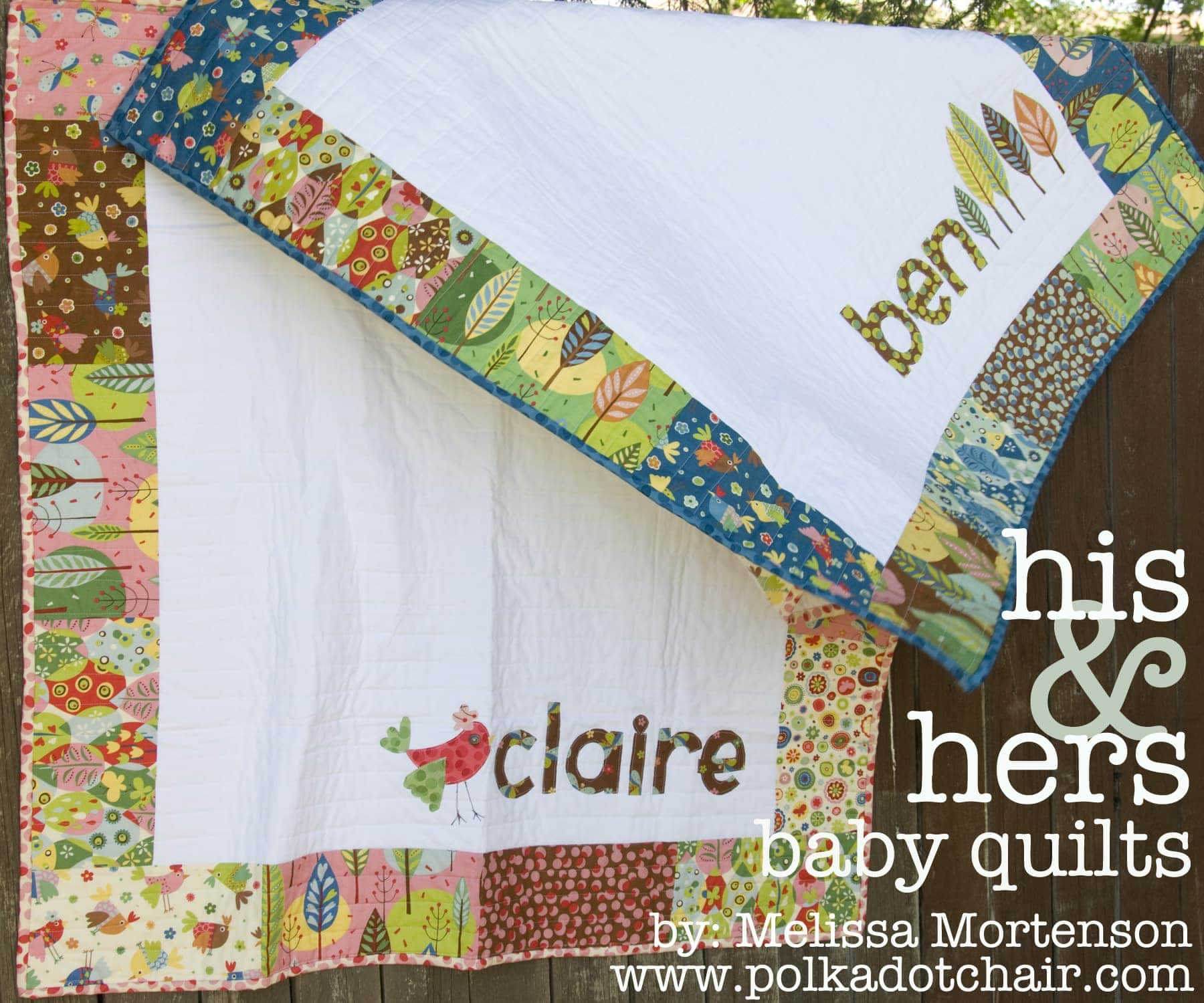 His Amp Hers Personalized Baby Quilt Pattern