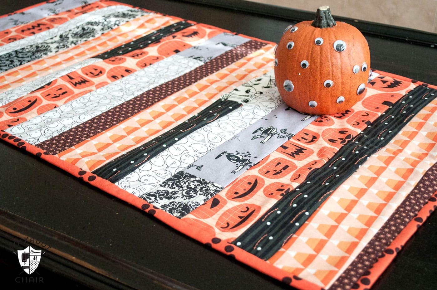 Scrappy Halloween Table Runner Sewing Pattern The Polka