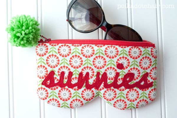 Here are some clever eyeglasses craft ideas - DIY zippered sunglasses case