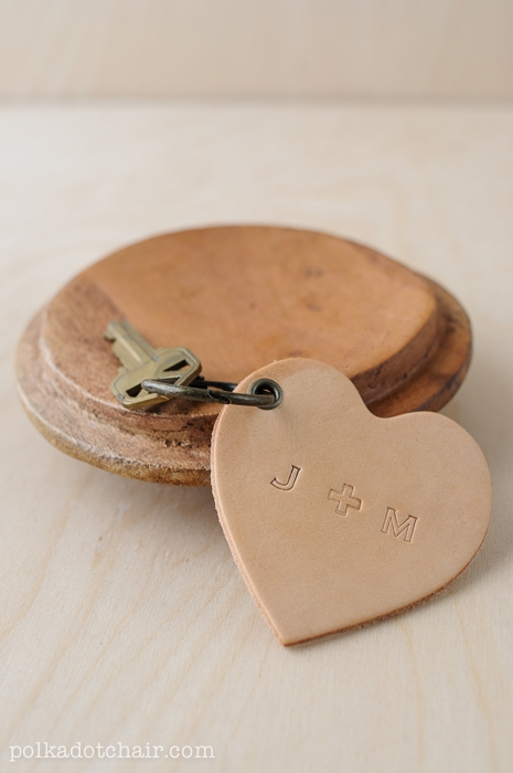 Leather Conversation Hearts A Valentines Day DIY Gift Idea