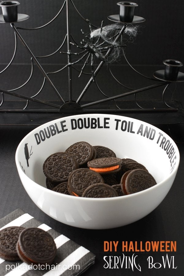 DIY Halloween Serving Bowl The Polka Dot Chair