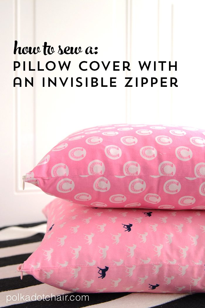 a pillow cover with an invisible zipper