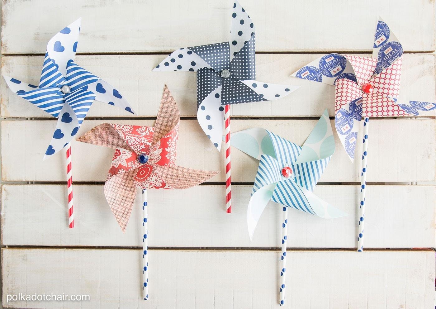 How To Make Paper Pinwheels The Polka Dot Chair