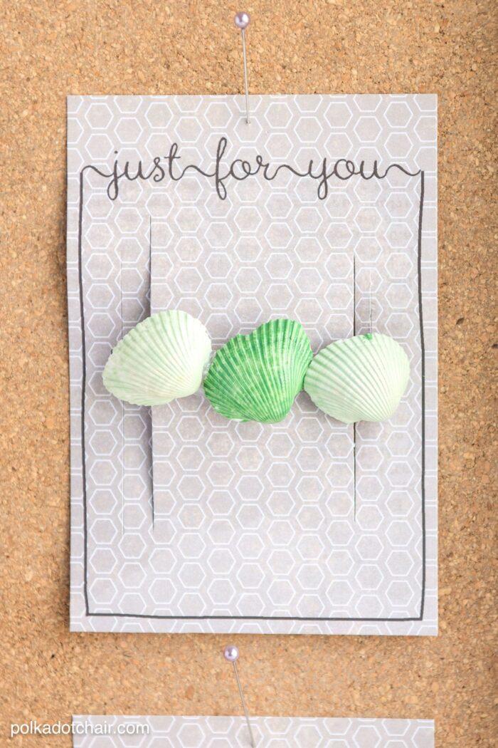 Seashell Crafts And Free Printable Gift Tags
