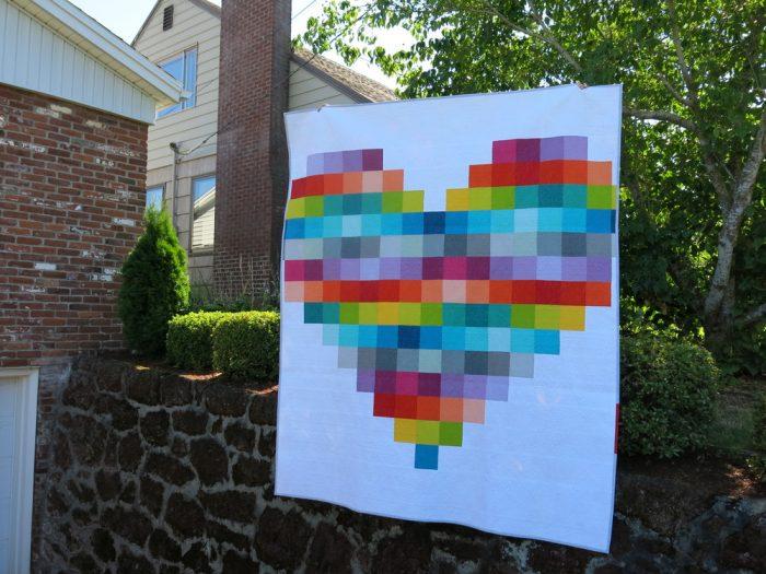 Dresden Plate Quilt Pattern Heart
