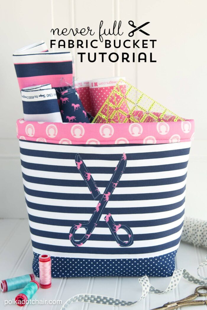 Large Fabric Basket Sewing Tutorial Polka Dot Chair