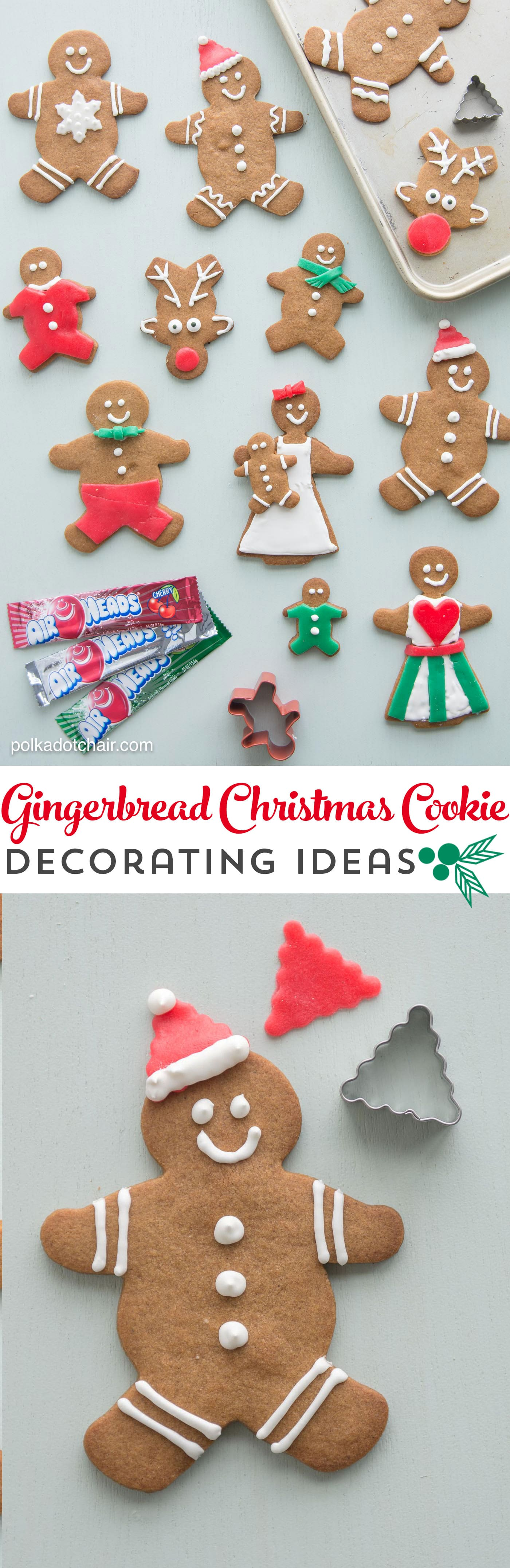 Gingerbread Cookie Decorating Ideas   The Polka Dot Chair Christmas Gingerbread Cookie Decorating Ideas  use Airheads candy to cut  out  clothes  and