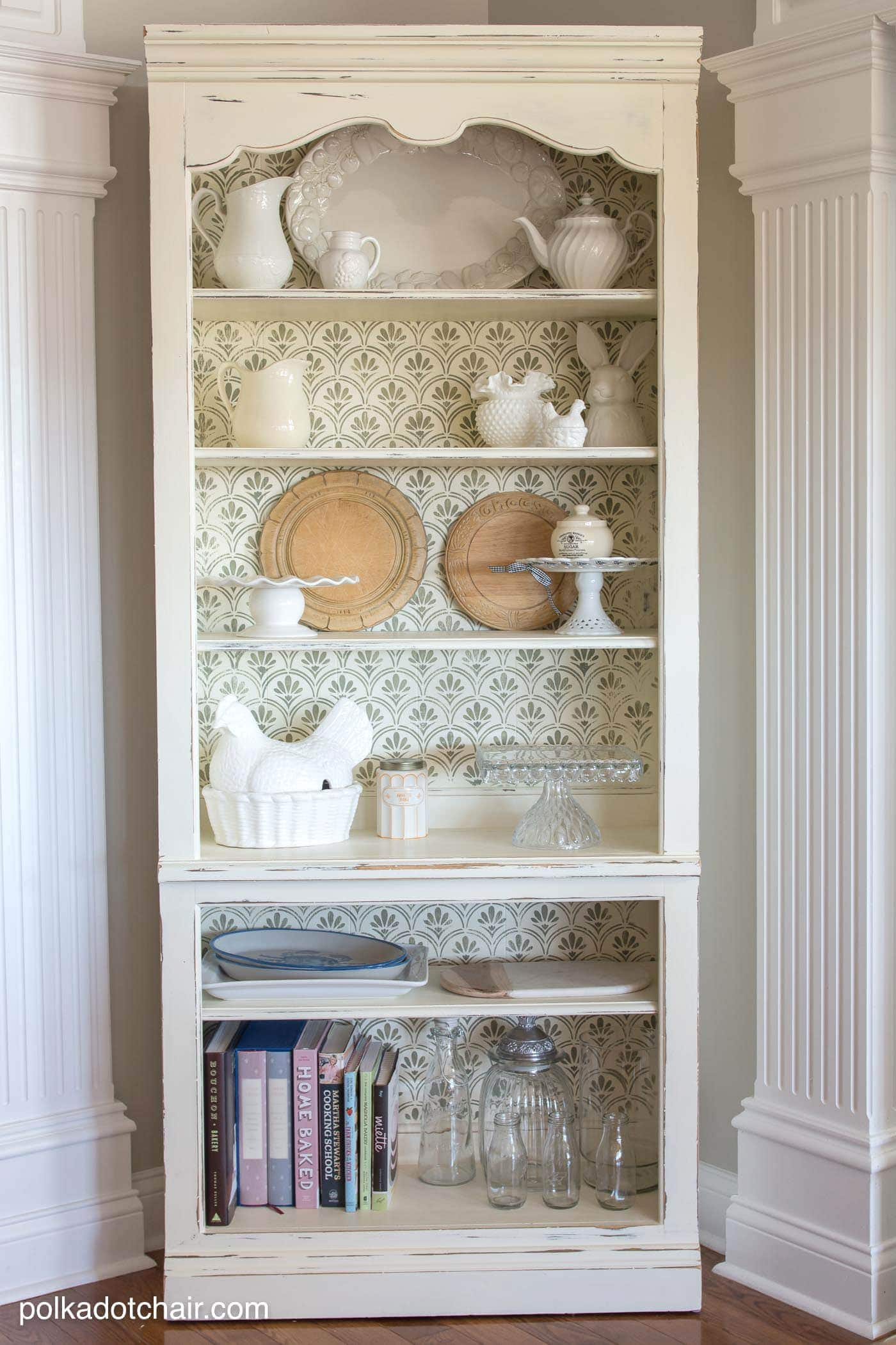 Diy Stenciled Bookcase Amp Giveaway
