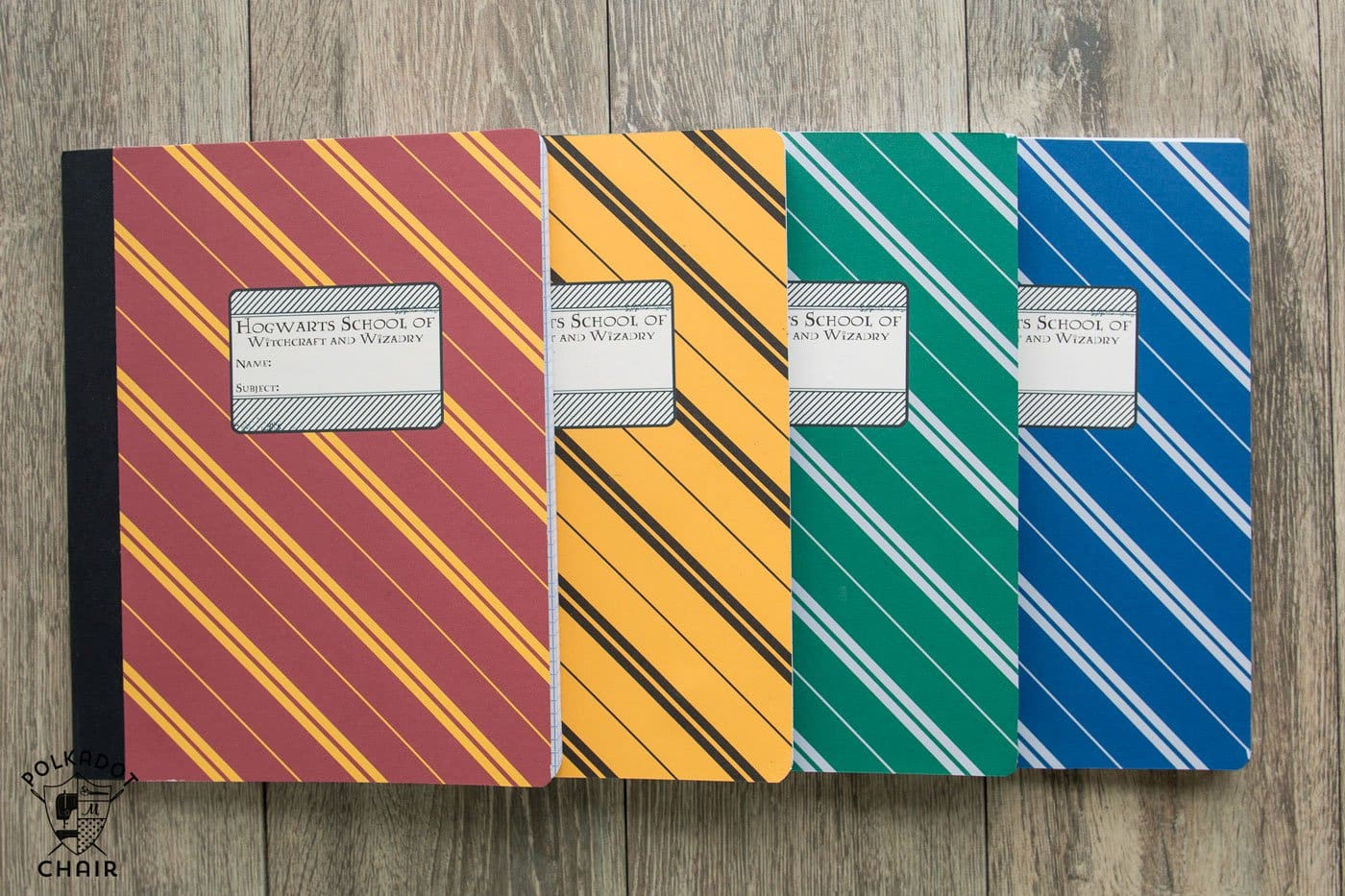 Diy Hogwarts Inspired House Notebooks Harry Potter Craft
