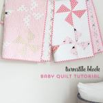 Free Turnstile Block Baby Quilt Pattern Polka Dot Chair