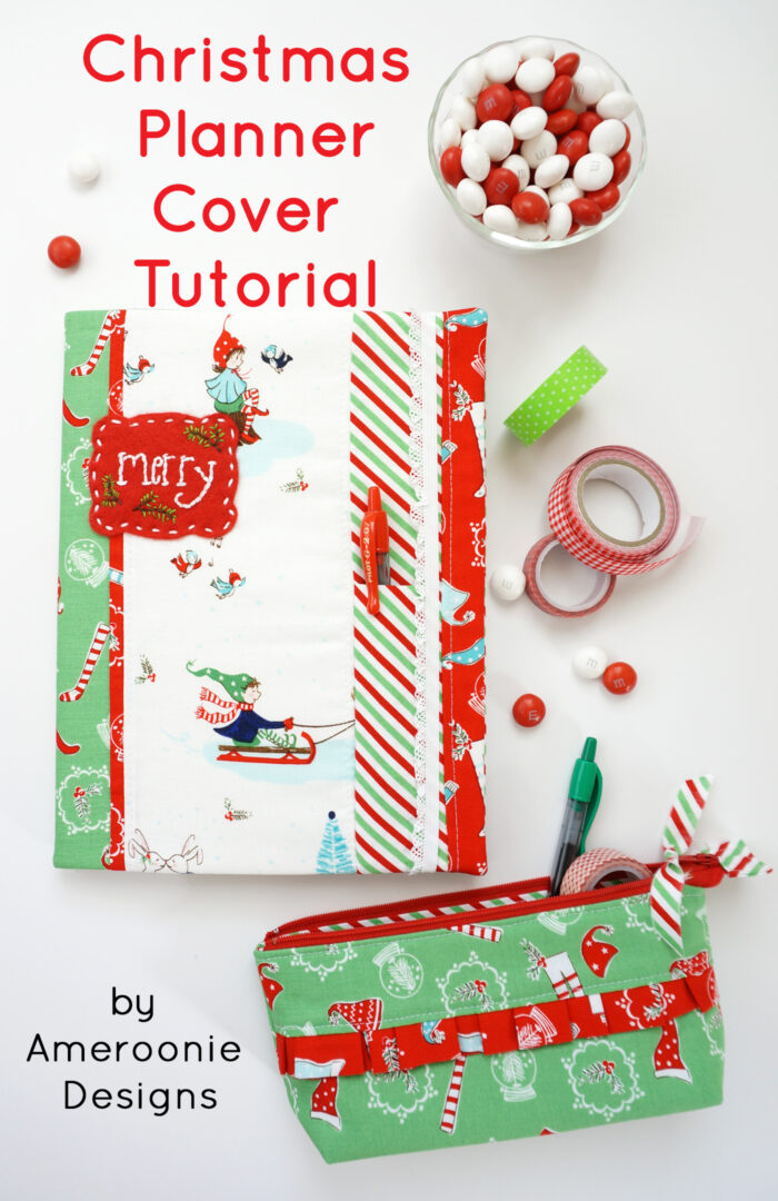 DIY Christmas Planner Cover Tutorial The Polka Dot Chair