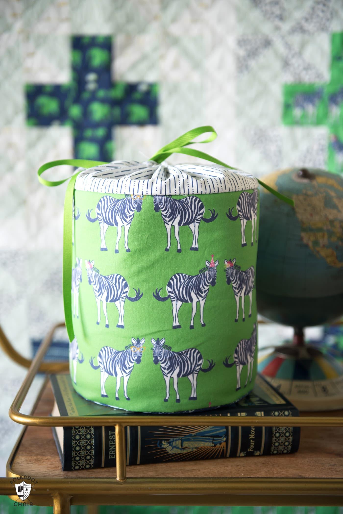 Diy Fabric Storage Bins Sewing Pattern The Polka Dot Chair