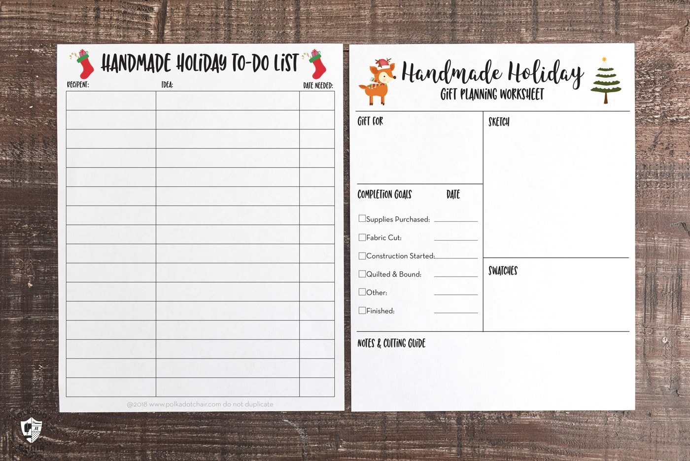 Free Printable Holiday Planner For Handmade Ts