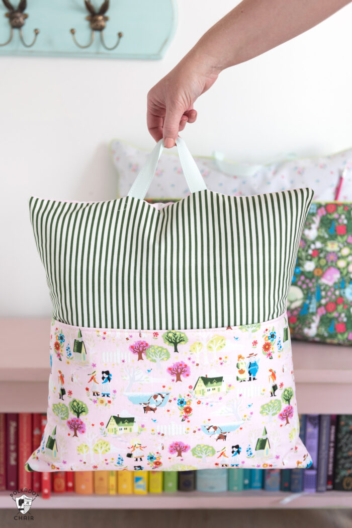 easy reading pillow pattern the polka
