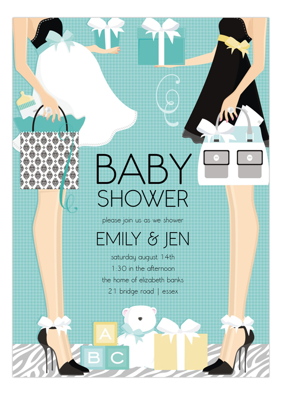 Baby Shower Invitations 2 Mothers