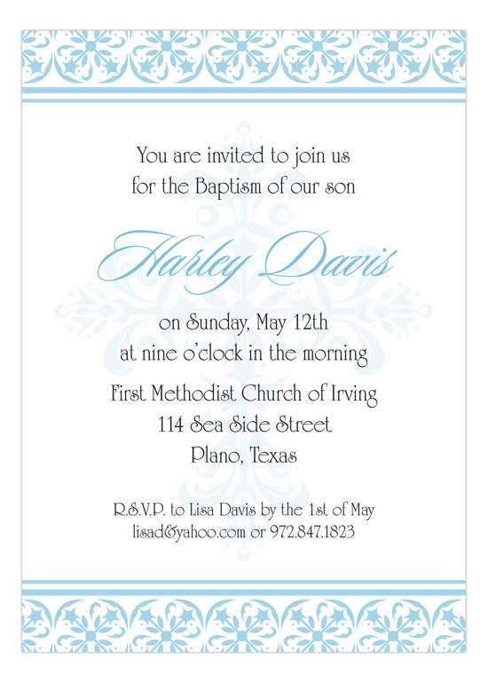 Baptism Invitation Pictures