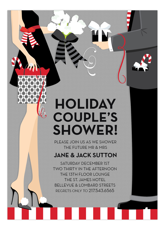 Holiday Couples Shower Invitation Printed Invitations