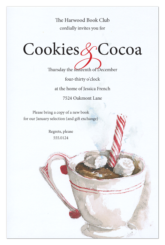 Hot Chocolate Invitation