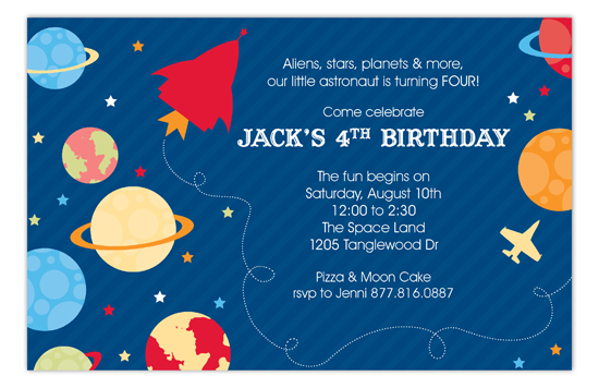 outer space party invitation