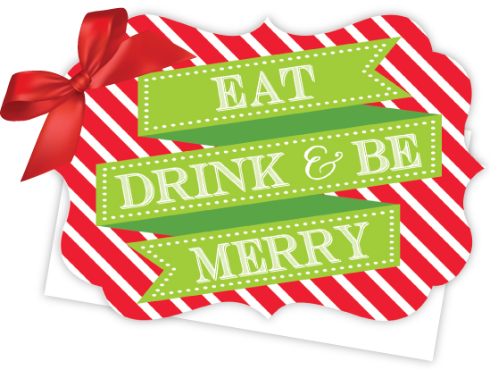 Rosanne Beck Eat Drink And Be Merry Die Cut Tie Up