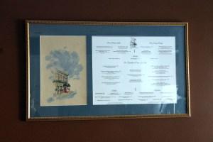 framed menus   polka dots and picket fences
