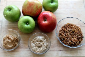 apple and granola snacks | polka dots and picket fences
