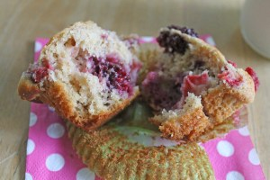triple berry muffins | polka dots and picket fences