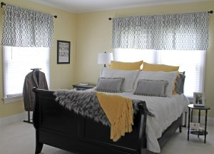 bedroom refresh | polka dots and picket fences