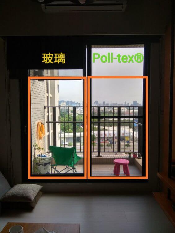 玻璃與Poll-tex®比較