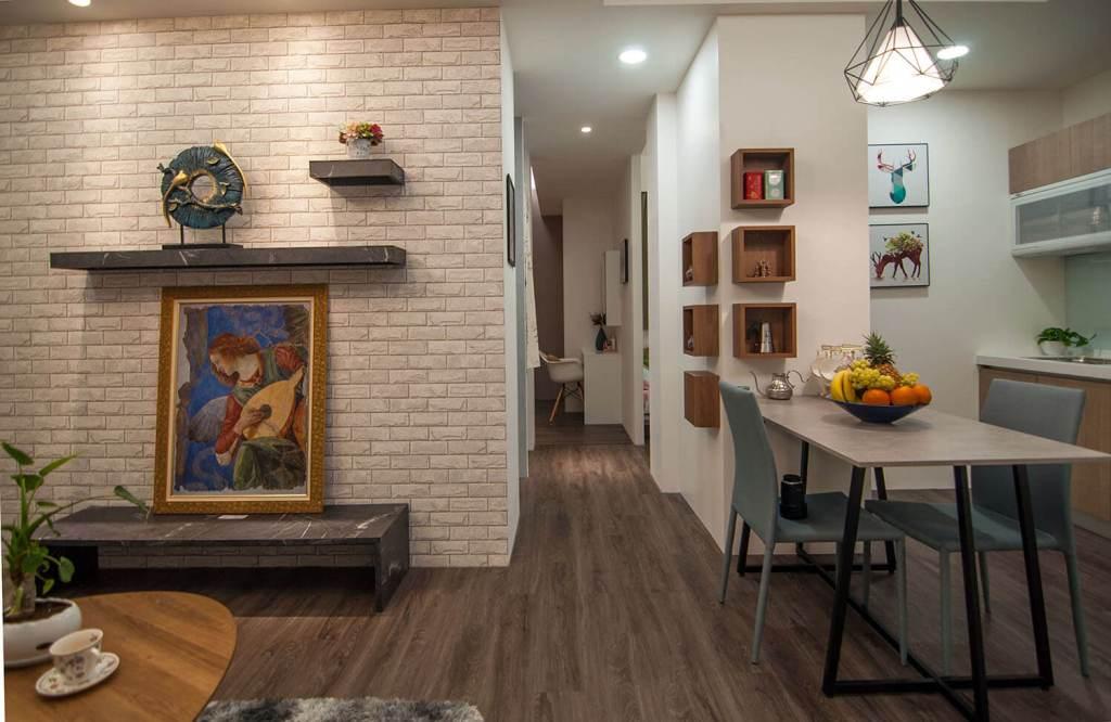 「維瓦第天晴」使用德國太格木地板,與台中豪宅同樣的頂級建材規格