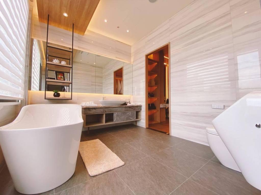 翔禾藏媺建商加碼在2樓主衛浴配置英國進口單體浴缸
